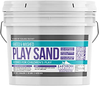 Earthborn Elements Play Sand, 1 Gallon Bucket (10 lb),, Building & Molding, Promotes Creativity, Sandbox & Play Areas, Indoor/Outdoor, Resealable Bucket