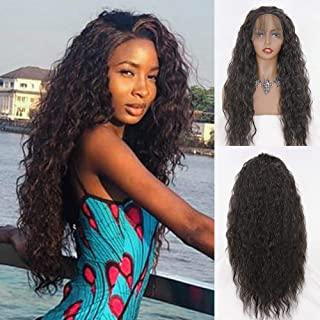 Eversilky 180% Density Synthetic Wig Lace Front Wigs with Baby Hair Natural Hairline Heat Resistant Fiber Lace Curly Wigs ...