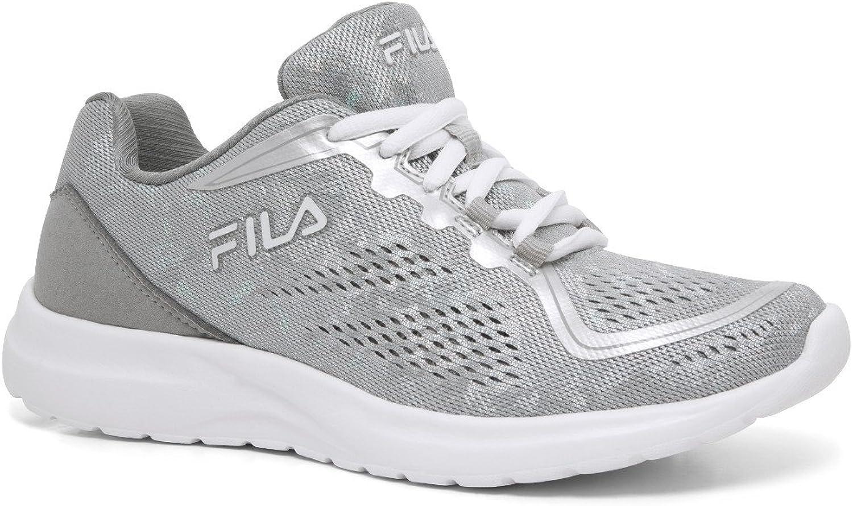 Fila Women's Memory Octave 2 Cross Training Sneakers, Silver Mesh, Man-Made, 8 M