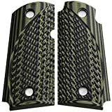 StonerCNC Micro Carry 9 9mm Spartan G10 Grips with or Without Ambi Compatible with Kimber (OD Green Black, Non Ambi)