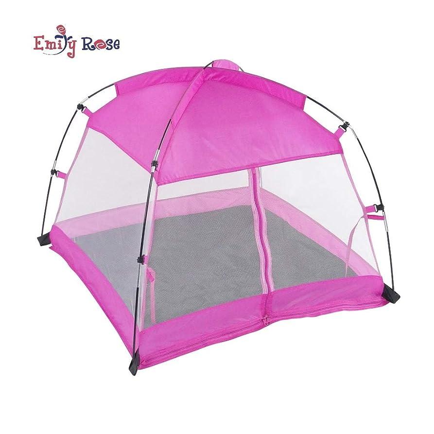 スリーブダルセット規定18 Inch Doll Accessories | Amazing Pink Dining Canopy Camping Tent, includes Matching Carry Case | Fits American Girl