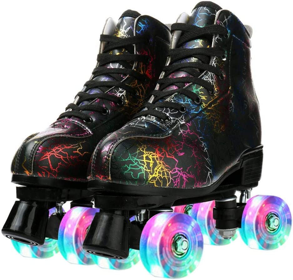 Gifts Gets Classic Roller Skates Soft Leather Rol Four-Wheel Arlington Mall High-top