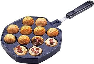 Zerodis sartenes para Crepes m/áquina de pasteler/ía Piedra para ni/ños Sartenes de Takoyaki Bandeja de Cacerola sart/én para Tortitas Placa de 16 Agujeros blinis