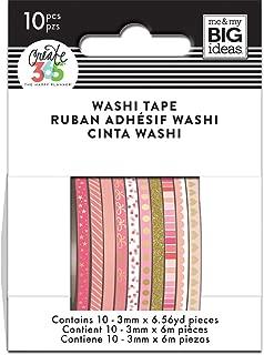 me & my BIG ideas WTSS-07 The Happy Planner Mini Washi Tape, Pink Hues