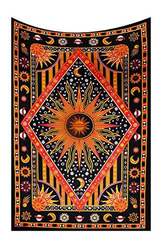 Rote Galaxie Sonne Mond Sterne Wandbehang Hippie Stern Tapisserie Psychedelic Baumwolle Wandteppich Hippie Tapisserie Wohnkultur Tagesdecke