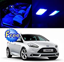 SCITOO LED Interior Lights 12pcs Blue Package Kit Accessories Replacement for 2010-2016 Ford Focus