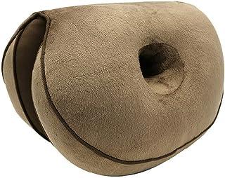 CHuangQi Dual Comfort Cushion Lift Hips Up Cojín de Asiento, Cojín ortopédico de Espuma viscoelástica para el Dolor de ciática, Hueso de la Cola y Cadera: Alivio de la presión en la Espalda