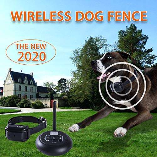 SHENZMN Wireless Dog Fence, Wireless Fence for Dogs, Wireless Dog Fence System with IP67 Waterproof...
