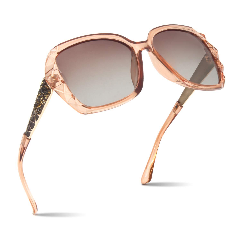 CGID Designer Oversized Sunglasses for Women Polarised UV400 Protection