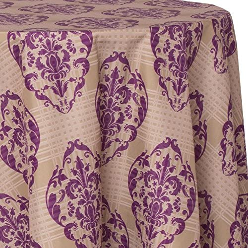 Ultimate Textile Opening large release sale Regal Plum 96-Inch Round Tablecloth Patterned gift