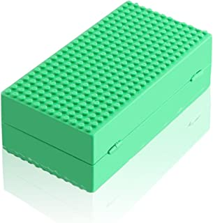 Feleph Blocks Storage Box Classic Baseplate Travel Toys Storage Containers Multifunctional Building Block Brick Box for Action Figures Portable Building Bricks Toys for Boys & Girls (Green)