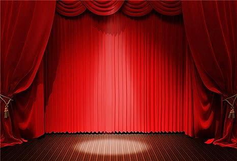 Laeacco 2 1 X 1 5 M Vintage Bühnen Hintergrund Roter Kamera