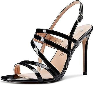 CASTAMERE Escarpins Femme Sandales Romaines Bride Cheville Aiguille Talon 10CM Heels