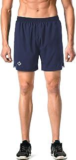 """Naviskin Sportwear Men's 5"""" Quick Dry Running Shorts Athletic Training Shorts Zip Pocket"""
