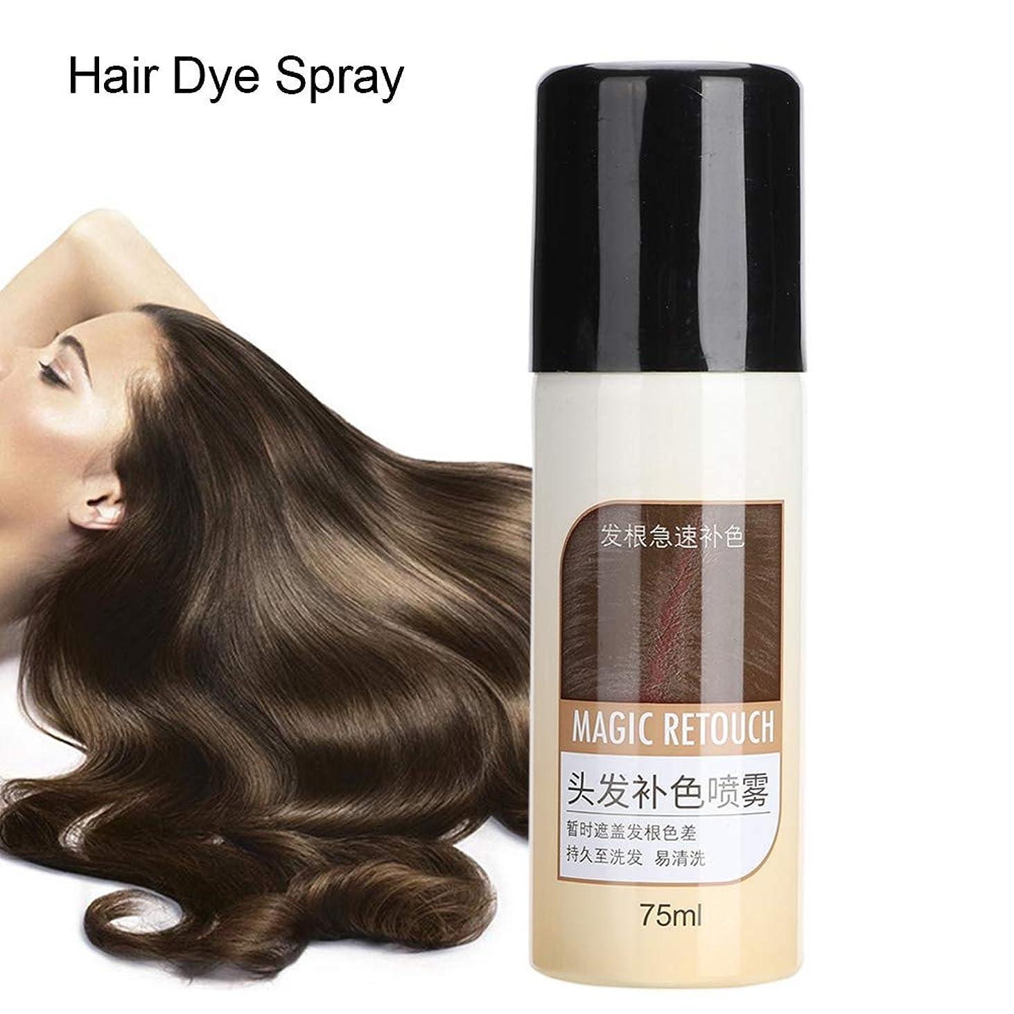 真面目なピークぐるぐるヘアダイ、べたつかないマットヘアスタイル栄養補給用洗えるスプレーカバー白髪用長続きするカラー染料750ml (#1)