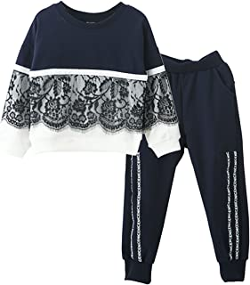 Fall Winter Little Girls Clothing Set Long Sleeve Top & Pants Outfits Clothes