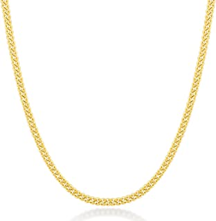 Gelin 14k Real Gold 1.0 mm Light Open Curb Chain for Women and Men, 18 Inc