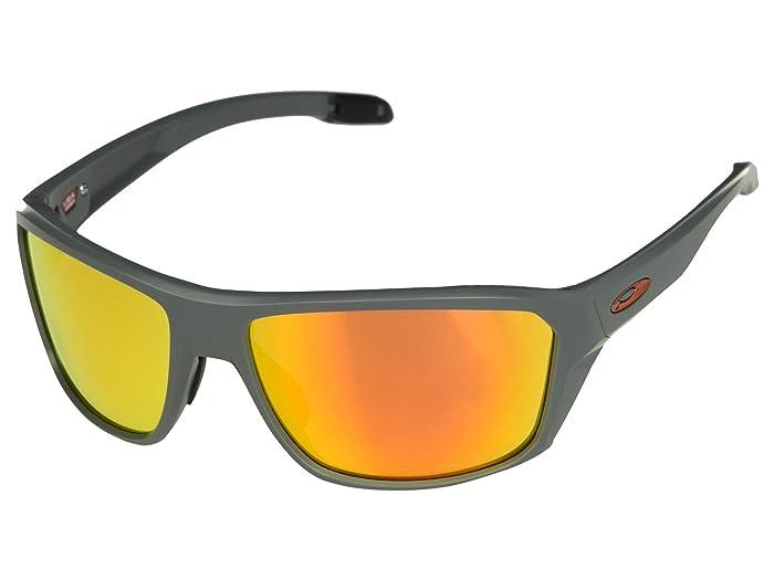 Oakley Split Shot (Matte Heather Grey/Prizm Ruby Polarized) Sport Sunglasses