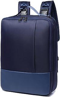 YAOHU Mochila de Portátil 15,6 Pulgada para Ordenador Macbook 20L Casual Impermeable Mochlia Backpack Bolsa Bandolera / Maletin Para Hombre Mujer Oficina Trabajo Diario Negocio, Multifuncional Azul