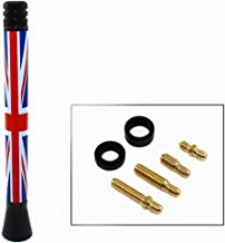 Cuztom Tuning 5 Inch Short Union Jack Blue Red UK Flag for Mini Cooper Roof Top Radio Antenna