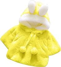 SRYSHKR-Baby Infant Girls Autumn Winter Hooded Rabbit Coat Cloak Jacket Thick Warm Clothes