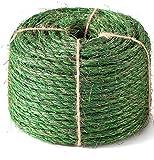 JSPYFITS Cuerda de Sisal Gatos 6mm, Sisal Cuerda para Reparar y Reemplazo de Gato Rascarse Pilar, Reemplazo Rascador para Reparación Árbol, Verde, 30metros