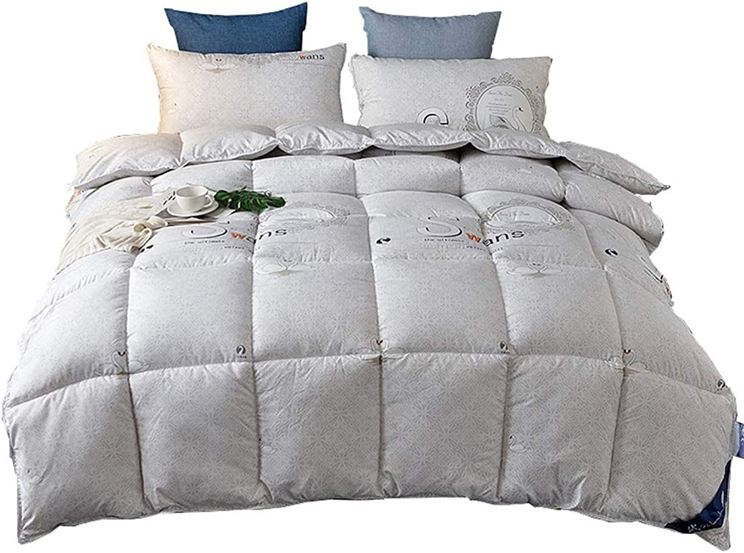 Quilt Plush Siliconized Fiberfill Quilted Comforter with Corner Tabs Warm and Soft for All Season Prevent Allergy (Size   220cmx240cm3kg)
