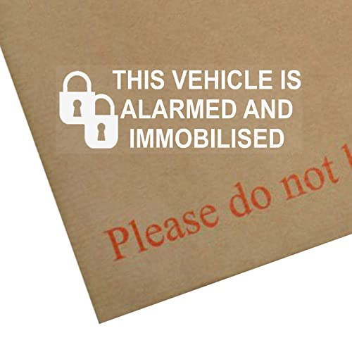 Car,Van,Truck,Taxi,Vehicle-Alarm Immobiliser Security Warning Stickers Signs-Pad