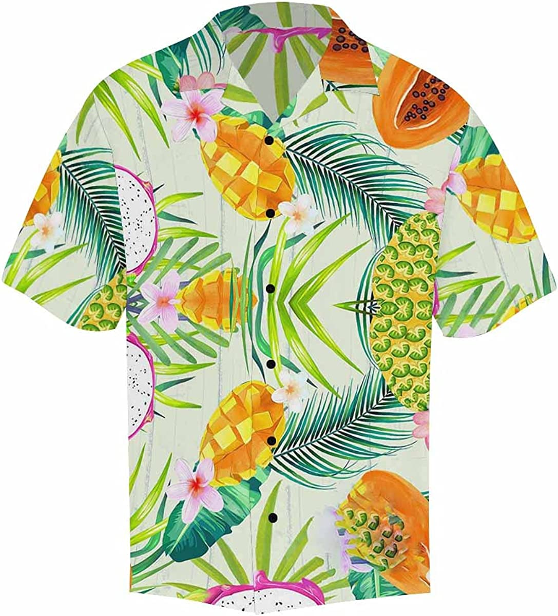 InterestPrint Men's Animer and price revision Casual Factory outlet Button Down Sleeve Short Monste Scary