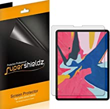 Supershieldz (3 Pack) for Apple iPad Pro 12.9 inch (2018 Model 3rd Generation) Screen Protector, High Definition Clear Shield (PET)