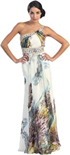 US Fairytailes Ball Gown Elegant Prom Printed Dress #2631