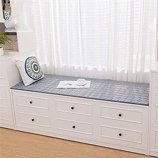 DM&XJ Plush Simple Window Cushion,Bay Window mat,Solid Color Window sill pad,Balconies mat,Bedroom Floor mat,Non-Slip Machine Washable-A 60x120cm(24x47inch)