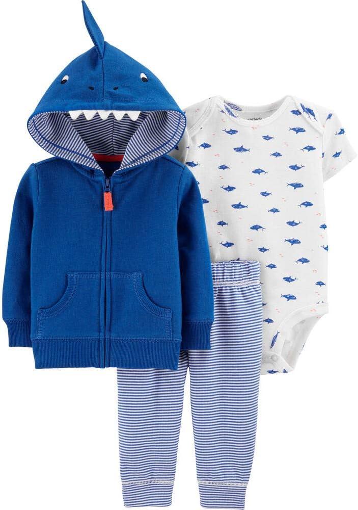 Carter's Baby Boys' Cardigan Sets 121h271 (9 Months, Blue/White Shark)