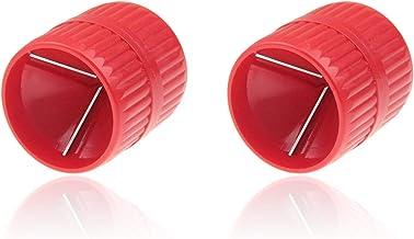 2 Stuks Binnen- en Buitenfrees, 2 in 1 Koperen Buisontbramer, Binnen- en Buitenontbramer, Kunststof, 5-38 mm, Voor het Ver...