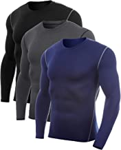 Vogyal Men's Compression Shirt Dry Fit Long-Sleeve Athletic Sports Baselayer