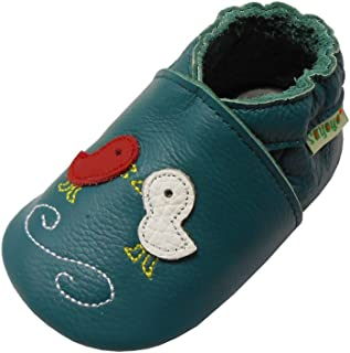 Sayoyo Baby Duck Soft Sole Leather Infant Toddler Prewalker Shoes