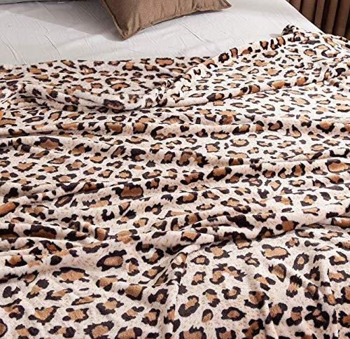 HBYMV Warme & weiche Bettwäsche Leopard Zebra Sherpa Plüschdecken Winter Flanelldecke Für Doppelbett Weiche Warme Tagesdecke Reise Decke 200 * 230 cm