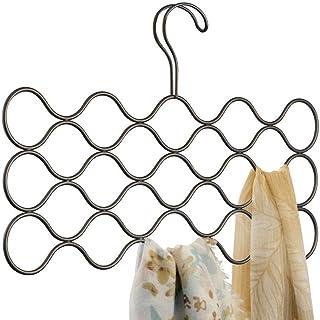 iDesign Classico cintre foulard avec 23 boucles, rangement suspendu en métal pour écharpes, cravates, ceintures, pashmina...