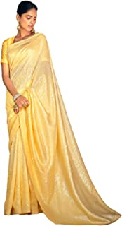 Indian Woman's Designer Georgette Shaded Sequin Sari Cocktail Party Trendy Saree Plain Blouse online 6248