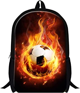 GIVE ME BAG Generic Football Printing School Backpack for Students Boys Fashion Hiking Bags