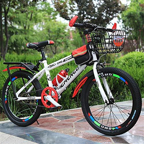 JHKGY VTT à vitesse variable, freins à disque en alliage de magnésium, vitesse variable, cadeau idéal pour les jeunes cyclistes à la recherche d'une aventure 50,1 cm Rouge