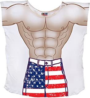Men's Guy's Patriotic Fourth of July Summer Beach Party Shirt Swimwear