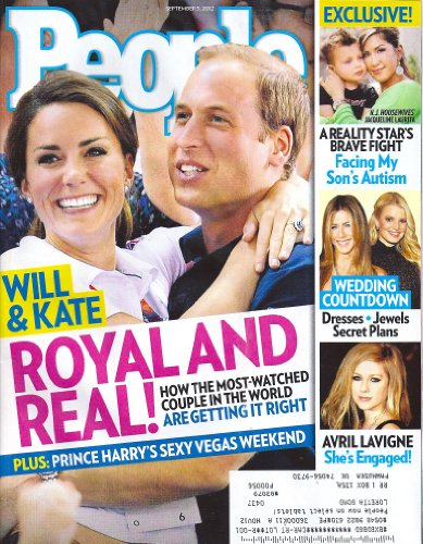 Prince William and Princess Kate, Avril Lavigne, Jennifer Aniston, Jessica Simpson, Jacqueline Laurtia, Phyllis Diller, Amy Grants - September 3, 2012 People Weekly Magazine
