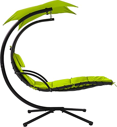 Patio Chair Lounger Chair Hanging Chaise Floating Chaise Canopy Swing Lounge Chair Hammock