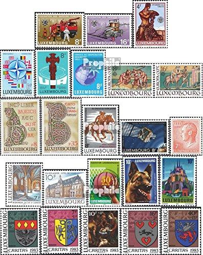 Prophila Collection Luxemburg 1068-1090 (kompl.Ausg.) Jahrgang 1983 komplett 1983 Feuerwehr, €uropa, Wappen u.a. (Briefmarken für Sammler)