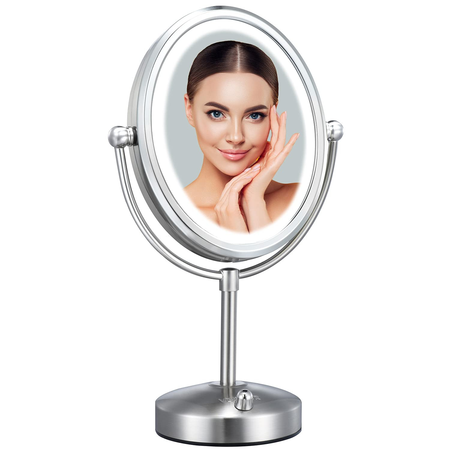 Super beauty product restock quality Animer and price revision top Professional 8'' Lighted Makeup Mirror 7X VESAUR Magnifyin Oval