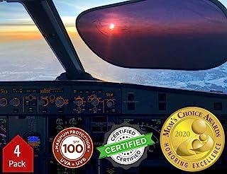kinder Fluff Sunshade (4X)-The only Certified Sunshades Blocking 99.79% of UVA & 99.95% UVB-120 GSM Sun Shades & 15S Stati...