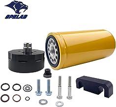 SPELAB Diesel Fuel Filter & Adapter Kit for 2001-2016 Chevy GMC Duramax LB7/LLY/LBZ/LMM/LML in Black