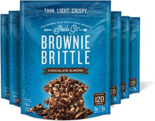 Sheila G's Brownie Brittle Chocolate Chip Almond- Low Calorie, Healthy Chocolate, Sweets & Treats Dessert, Thin Sweet Cris...