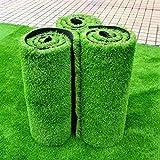 WENZHE-Artificiales sintético plástico Grass Césped Artificial Alfombra Hierba Artificial Alta Densidad Barato, 1 Metro De Ancho, 5 Tipos De Espesor Césped (Color : A, Tamaño : 1 * 2m)